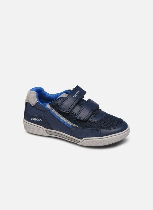 Baskets Geox J Poseido Boy J02BCF Bleu vue détail/paire