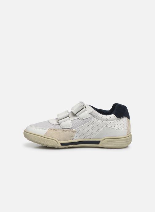 Sneaker Geox J Poseido Boy J02BCF weiß ansicht von vorne