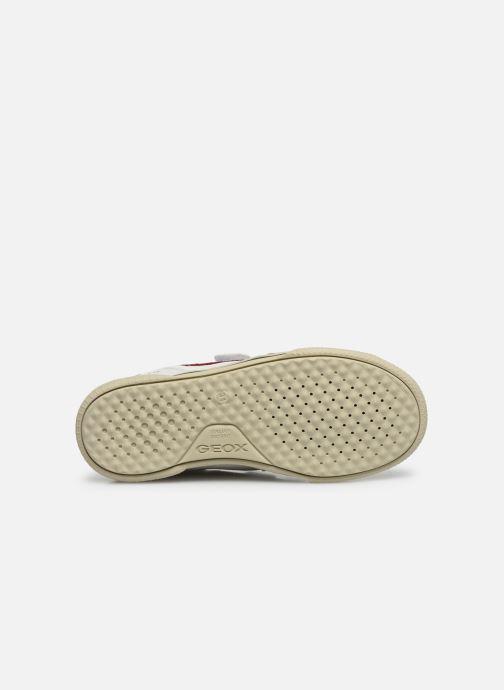 Sneaker Geox J Poseido Boy J02BCF weiß ansicht von oben