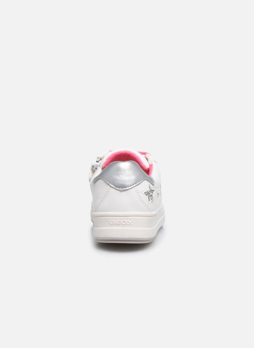 Sneaker Geox J Rebecca Girl J02BDB weiß ansicht von rechts