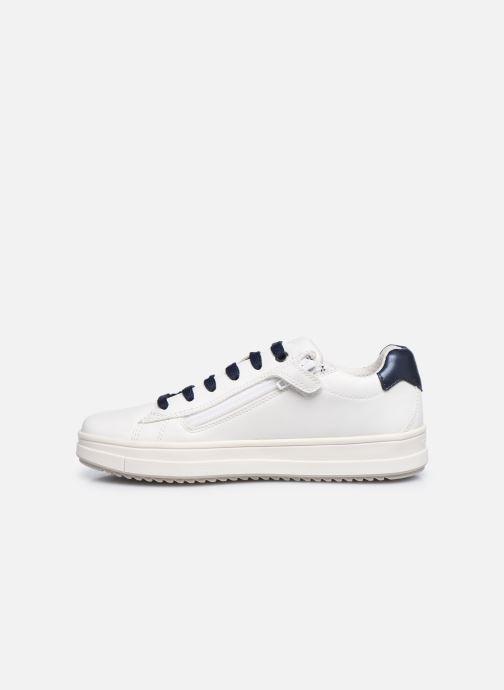 Sneaker Geox J Rebecca Girl J02BDB weiß ansicht von vorne