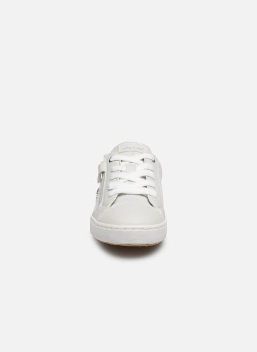 Baskets Geox J Kilwi Girl J02D5B Argent vue portées chaussures
