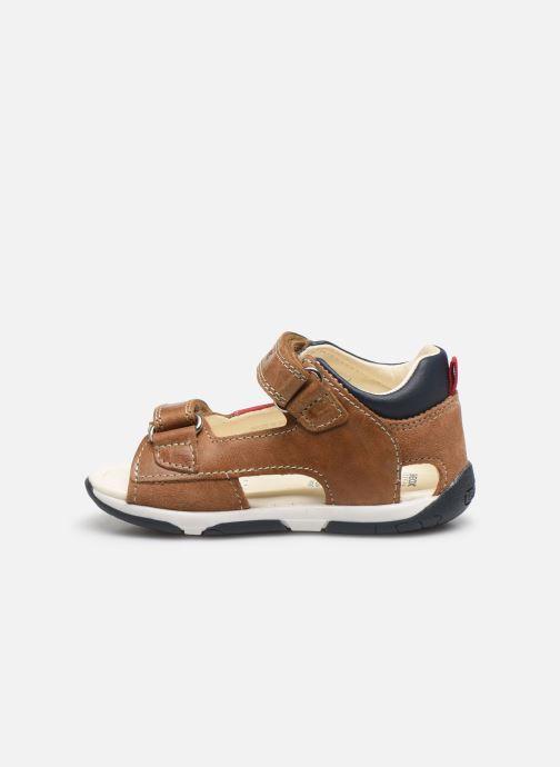 Sandali e scarpe aperte Geox B Sandal Tapuz Boy B020XA Marrone immagine frontale