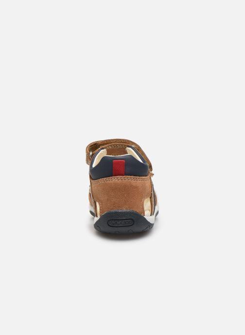 Sandali e scarpe aperte Geox B Sandal Tapuz Boy B020XA Marrone immagine destra