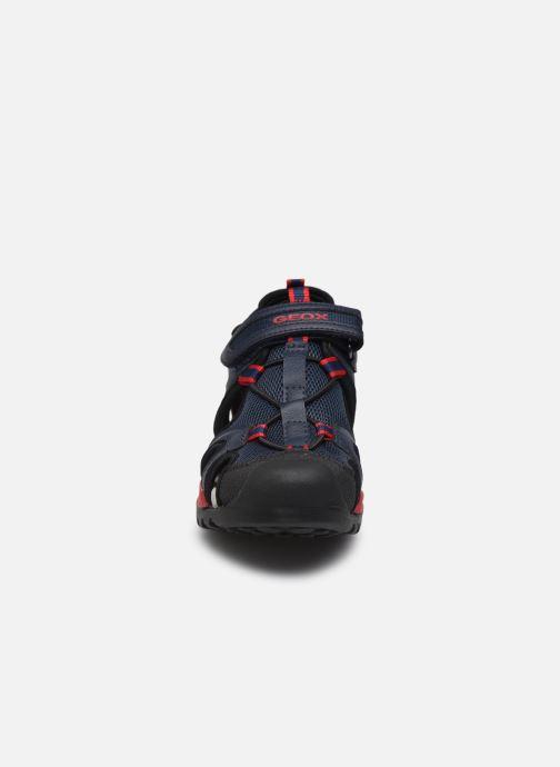Sandales et nu-pieds Geox J Borealis Boy J020RA Bleu vue portées chaussures