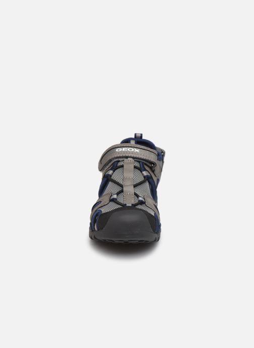 Sandalen Geox J Borealis Boy J020RA grau schuhe getragen