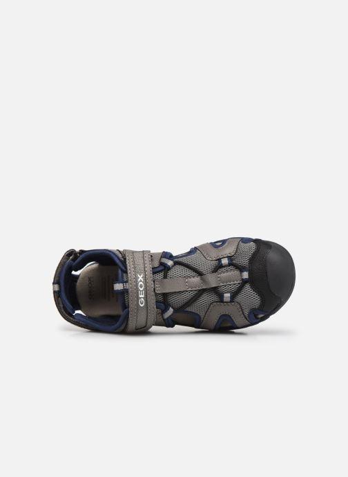Sandalen Geox J Borealis Boy J020RA grau ansicht von links
