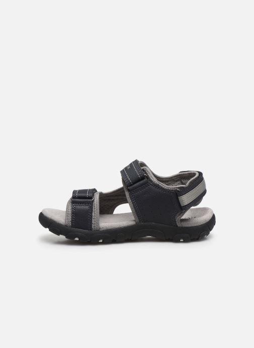 Sandales et nu-pieds Geox Jr Sandal Strada J0224A Bleu vue face