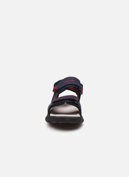 Sandalen Geox Jr Sandal Strada J0224A blau schuhe getragen