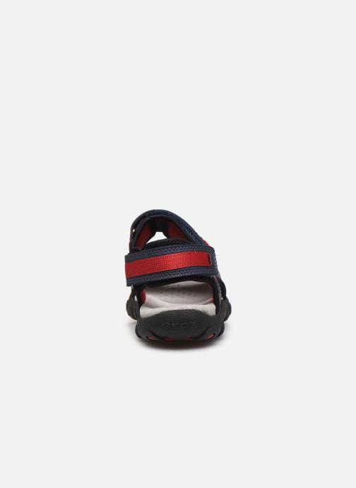 Sandales et nu-pieds Geox Jr Sandal Strada J0224A Bleu vue droite