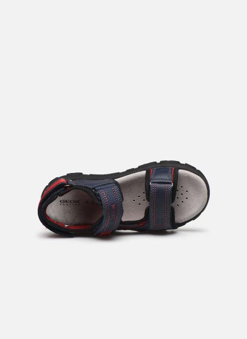Sandales et nu-pieds Geox Jr Sandal Strada J0224A Bleu vue gauche