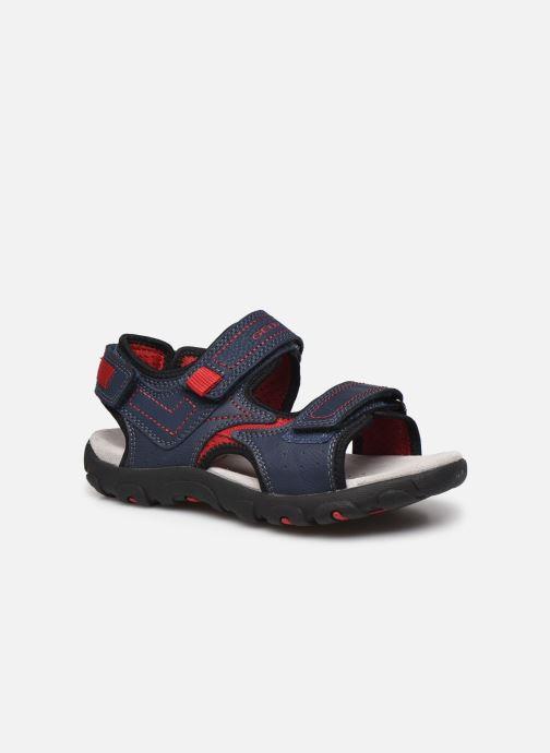 Sandales et nu-pieds Geox Jr Sandal Strada J0224A Bleu vue détail/paire