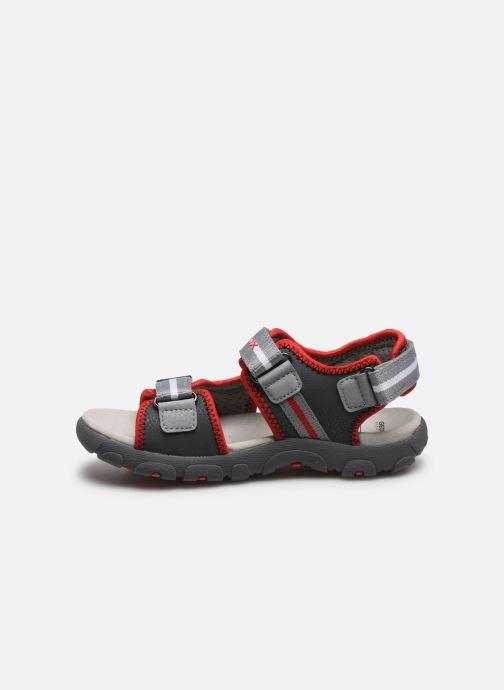 Sandales et nu-pieds Geox Jr Sandal Strada J0224B Gris vue face