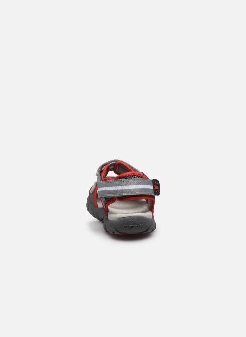 Sandales et nu-pieds Geox Jr Sandal Strada J0224B Gris vue droite