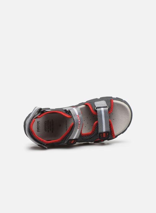 Sandales et nu-pieds Geox Jr Sandal Strada J0224B Gris vue gauche
