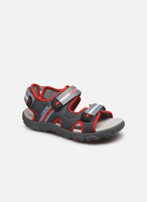 Sandales et nu-pieds Geox Jr Sandal Strada J0224B Gris vue détail/paire