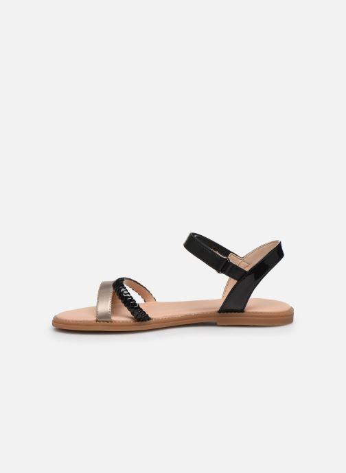 Sandales et nu-pieds Geox J Sandal Karly Girl J0235D Noir vue face