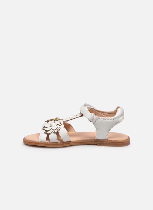 Sandales et nu-pieds Geox J Sandal Karly Girl J0235H Blanc vue face