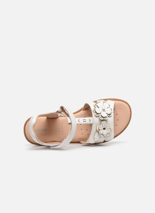 Sandales et nu-pieds Geox J Sandal Karly Girl J0235H Blanc vue gauche