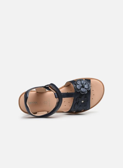 Sandali e scarpe aperte Geox J Sandal Karly Girl J0235H Azzurro immagine sinistra
