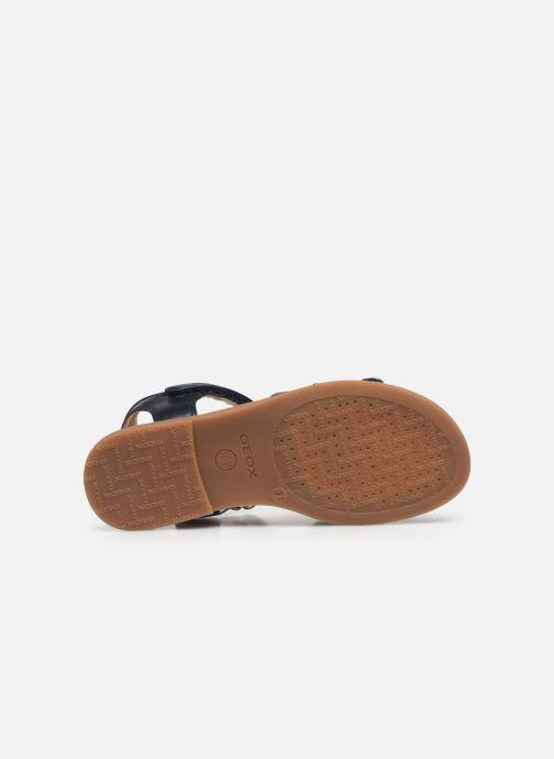 Sandali e scarpe aperte Geox J Sandal Karly Girl J0235H Azzurro immagine dall'alto