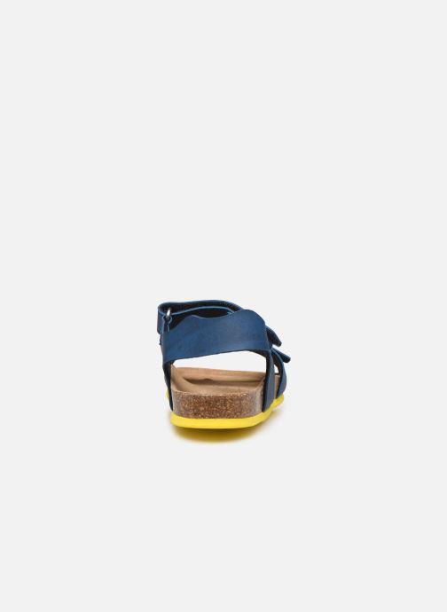 Sandales et nu-pieds Geox J Ghita Boy J028LB Bleu vue droite