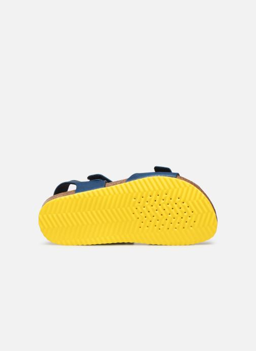 Sandales et nu-pieds Geox J Ghita Boy J028LB Bleu vue haut