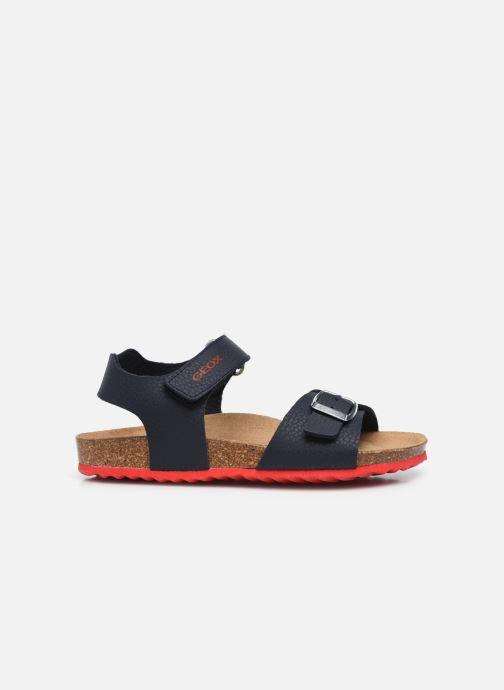 Sandales et nu-pieds Geox J Ghita Boy J028LB Bleu vue derrière