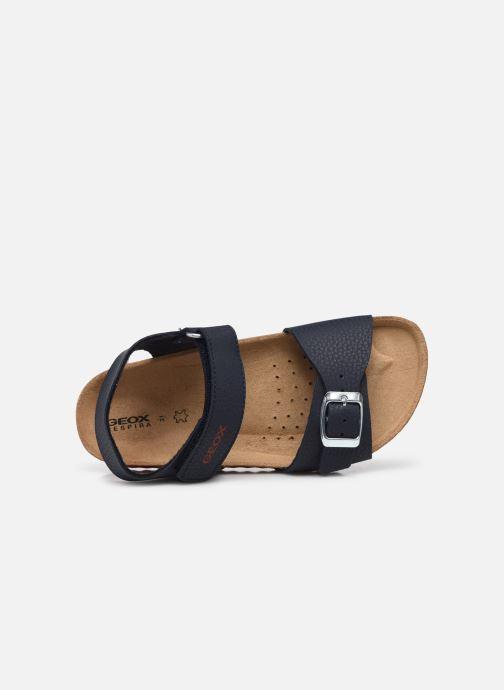 Sandales et nu-pieds Geox J Ghita Boy J028LB Bleu vue gauche