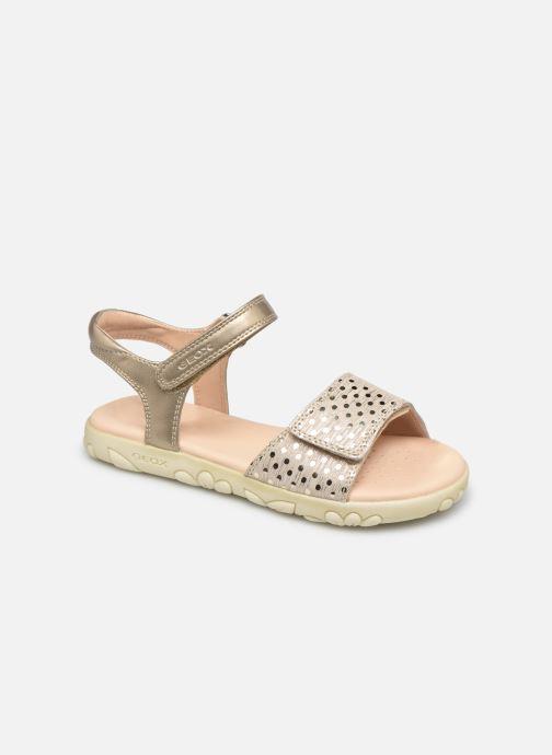 Sandales et nu-pieds Geox J Sandal Haiti Girl J028ZA Beige vue détail/paire