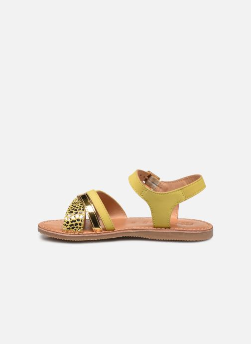 Sandales et nu-pieds Geox J Sandal Eolie Girl J02BSC Jaune vue face
