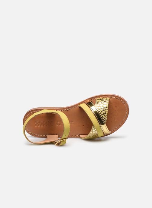 Sandales et nu-pieds Geox J Sandal Eolie Girl J02BSC Jaune vue gauche