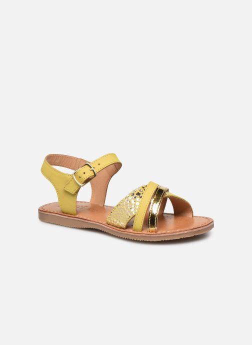 Sandales et nu-pieds Geox J Sandal Eolie Girl J02BSC Jaune vue détail/paire