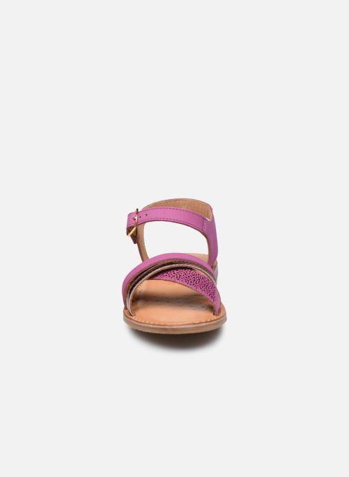 Sandales et nu-pieds Geox J Sandal Eolie Girl J02BSC Rose vue portées chaussures