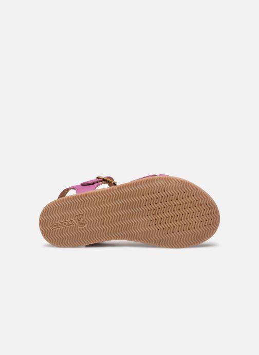 Sandales et nu-pieds Geox J Sandal Eolie Girl J02BSC Rose vue haut