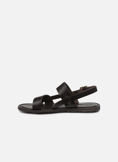 Sandales et nu-pieds Les Tropéziennes par M Belarbi DANDY Marron vue face