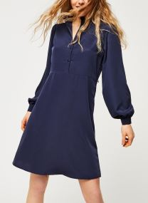Visimple L/S Button Tie Shirt Dress