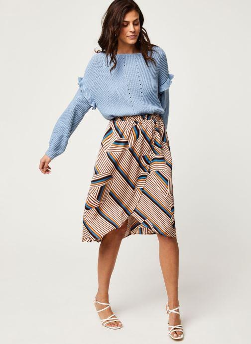 Vêtements Vila Vidoletta Graphic Wrap Skirt Beige vue bas / vue portée sac