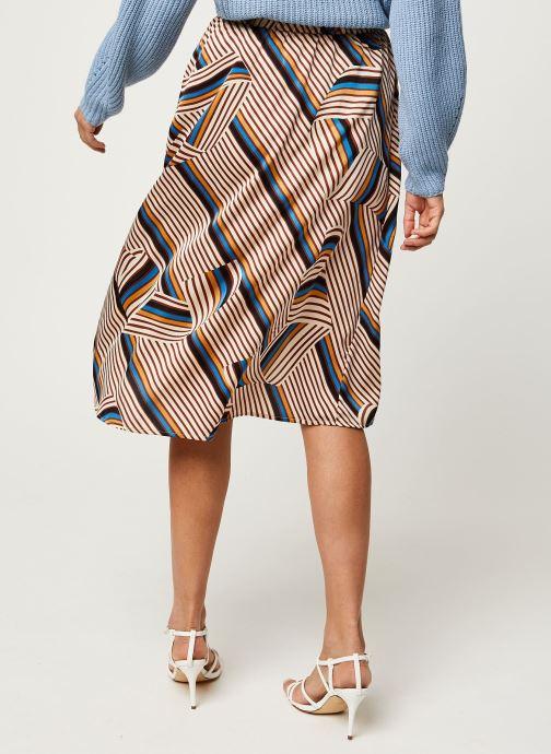 Vêtements Vila Vidoletta Graphic Wrap Skirt Beige vue portées chaussures