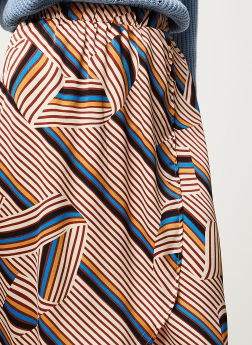 Vêtements Vila Vidoletta Graphic Wrap Skirt Beige vue face