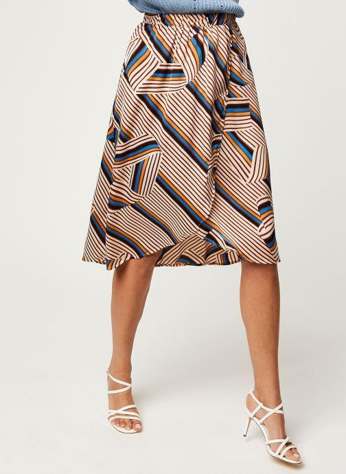 Vêtements Vila Vidoletta Graphic Wrap Skirt Beige vue détail/paire