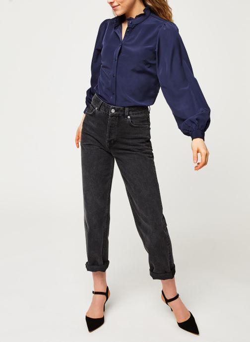 Vêtements Vila Visimple L/S Button Shirt Bleu vue bas / vue portée sac
