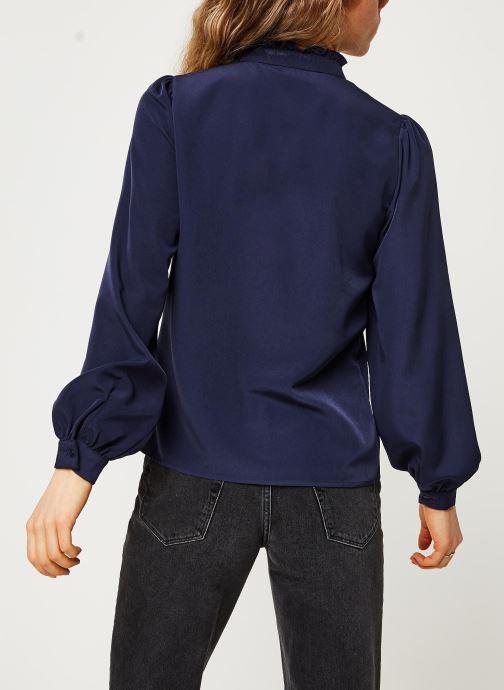 Vêtements Vila Visimple L/S Button Shirt Bleu vue portées chaussures