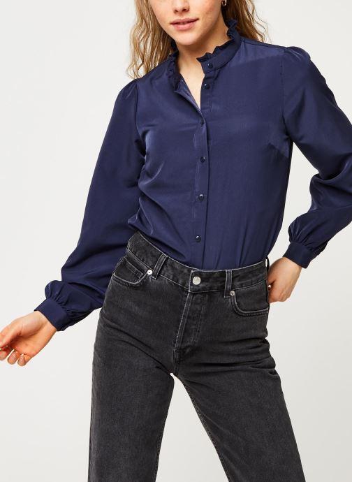 Vêtements Vila Visimple L/S Button Shirt Bleu vue droite