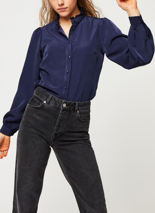 Vêtements Vila Visimple L/S Button Shirt Bleu vue détail/paire