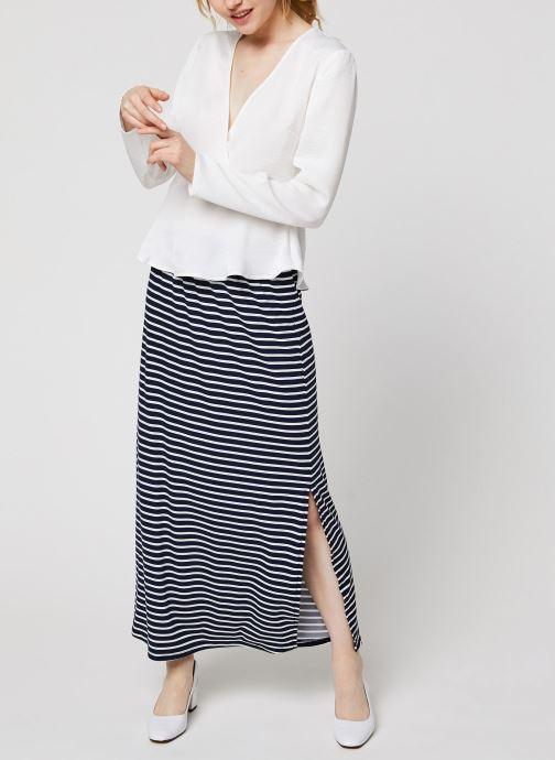 Vêtements Vila Vizippa L/S Wrap Effect Top Blanc vue bas / vue portée sac