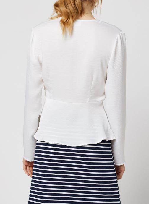 Vêtements Vila Vizippa L/S Wrap Effect Top Blanc vue portées chaussures