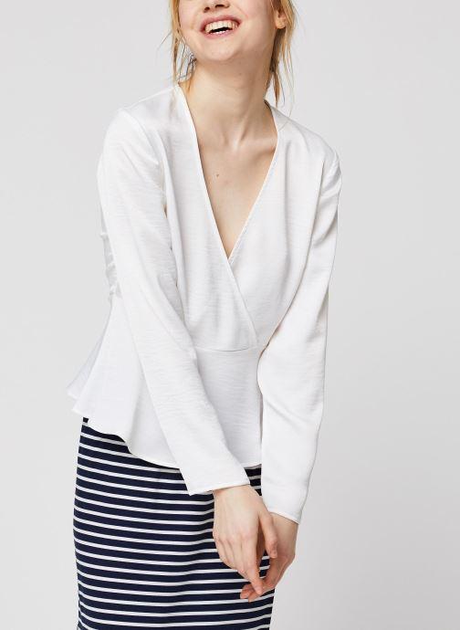 Vêtements Vila Vizippa L/S Wrap Effect Top Blanc vue droite