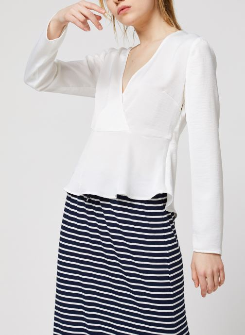 Vêtements Vila Vizippa L/S Wrap Effect Top Blanc vue détail/paire