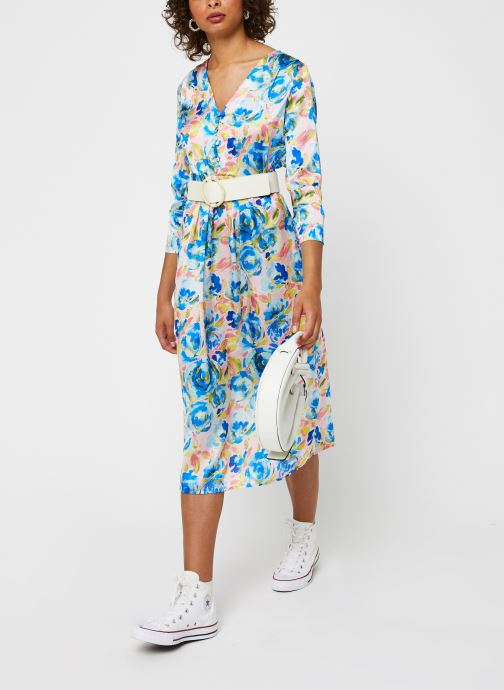 Vêtements Vila Viakvaralla L/S V-Neck Midi Dress Bleu vue bas / vue portée sac